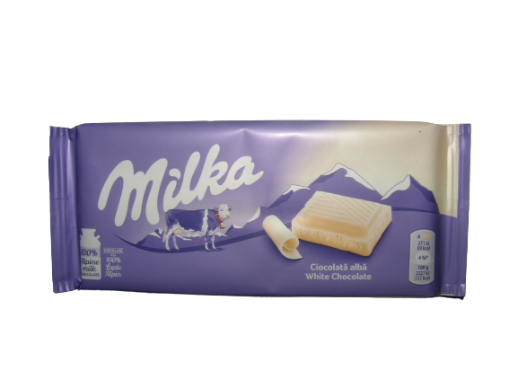 Milka white chocolate 100g